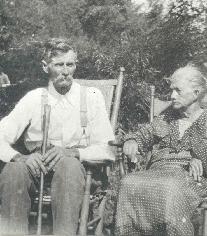 Isom Harrison Phillips and Sarah Delilah Brooks Phillips