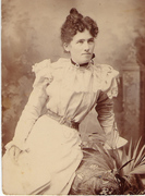 1895 Mary Elizabeth Hayes when she was 18 years old