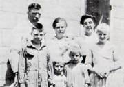 Softley Family Charles, Myrtie holding Warren, Aunt Rose Gunkel, Ralph, George, Rosemary, Elaine