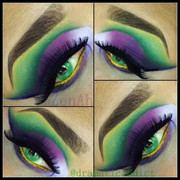 Green Cut Crease & Purples!