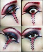 Anti-Valentines day makeup