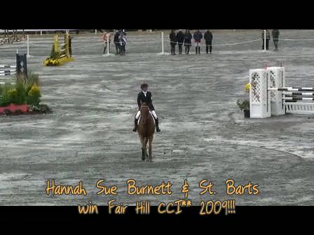 Hannah Sue Burnett spectacular win at Fair Hill