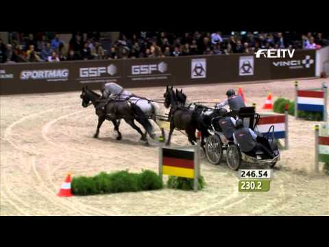 FEI World Cup Driving Final 2013, Bordeaux - Winner, Koos De Ronde NED