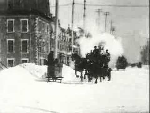 Montreal Fire Department on Runners - Winter 1901