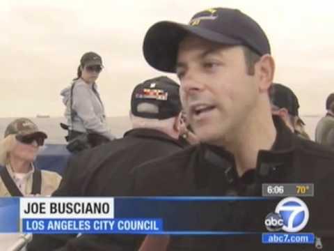 Councilman Joe Buscaino Talks to ABC7 About Arrival of USS Iowa Battleship
