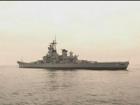 Legendary battleship USS Iowa arrives in Los Angeles