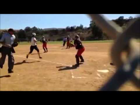 Amber Nunez Drills Towering RBI-Double!