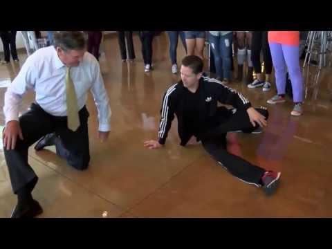 "2013 CSU Chancellor Timothy White ""learns"" to Break Dance @ CSUDH"