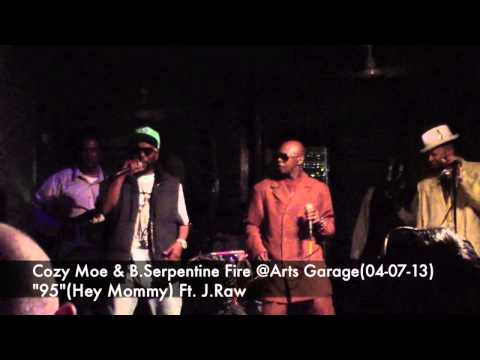 Cozy Moe and B Serpentine at Arts Garage