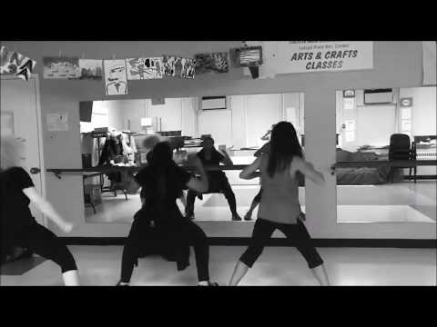 Last Week of Q.U.E.E.N. Dance Practice:  Cara-Mel, Kori & Rasa