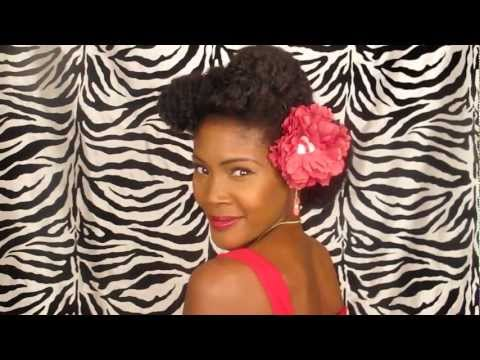 Classic Pin Up Girl Updo for Natural Hair