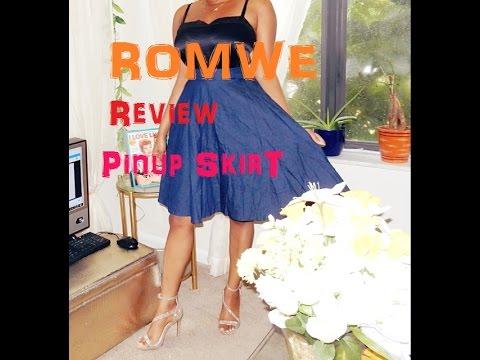 Romwe Review & Denim Circle Skirt