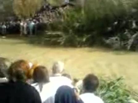 ნათლისღების დღეს მდინარე იორდანე აღმა მიედინება