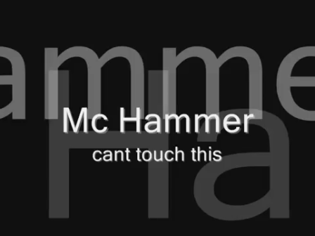 Mc Hammer - YOU CAN'T TOUCH THIS