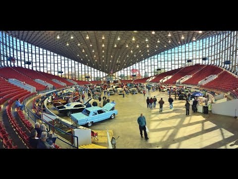 Cars Leaving Dorton Arena  - 2014 Carolina Collector Auto Fest Nov 15, 2014