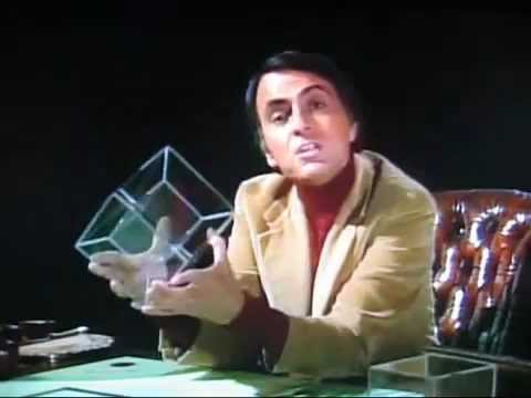 HIGHER 4th FOURTH DIMENSION explained by Dr. CARL SAGAN
