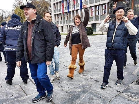 Protest domoljubov proti politiki nelegalnih migracij AXJ Slovenia NEWS 21.11.2018