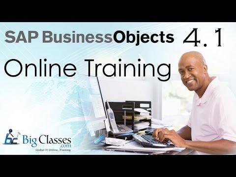 SAP BO 4.1 Web Intelligence Tutorials - Part 2