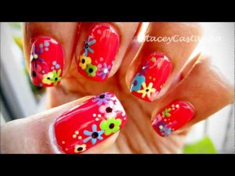 Pretty Flower manicure | Tutorial