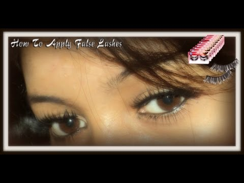 How To Apply False Lashes  Video Tutorial