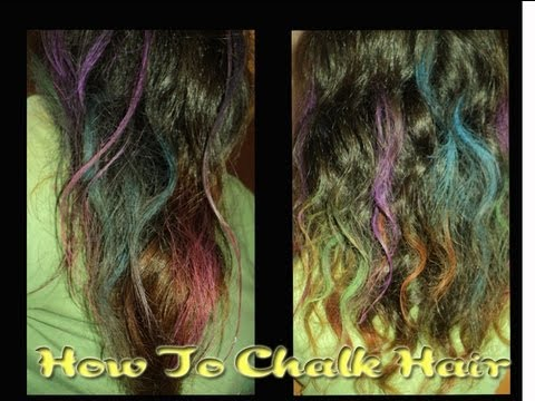 How To Color Your Hair With Chalk Video Tutorial _ Get Dooley Hair