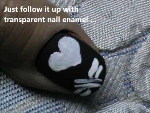 Punk Love! - One Minute Nail Design For Beginners-Valentines Day Nail Design For Short Nails!