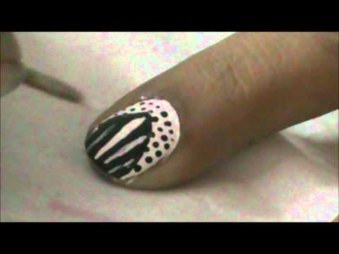 Really Cool Nail Design- Very Easy Nail Design for Short Nails - Nail Art for Beginners!