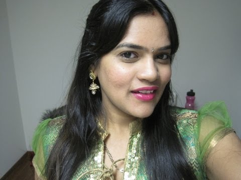 Get Ready With Me ☆Indian/Desi Party wear look using Gold & Pink Shimmer with pop of lips☆