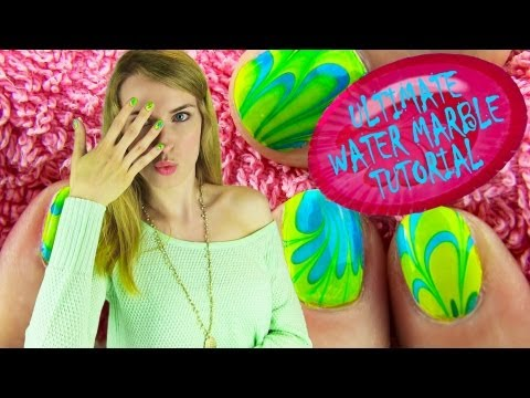 Water Marble Nail Art! How to Water Marble your Nails Step by Step Tips for BEGINNERS!