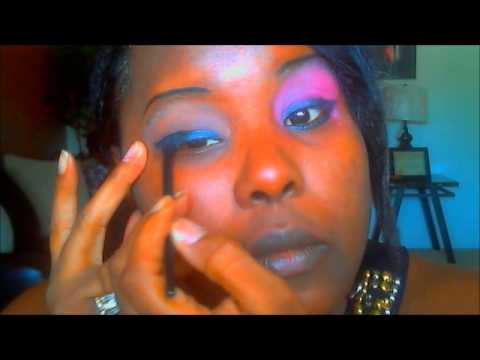 Just doing my eye makeup