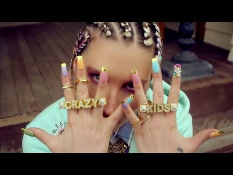 Ke$ha Crazy Kids Nails | Tutorial