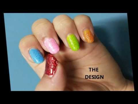 SIMPLE SAND NAILS USING 2 METHODS