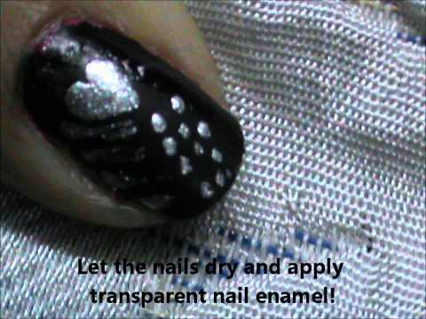 Metal Nail Design - Punk and Goth Short Nails and Easy nail art for beginners nail polish design