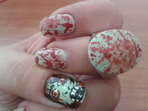 Manicura Zombie/ Zombie nails
