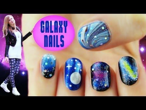 Galaxy Nails! 5 Galaxy Nail Art Ideas & Designs