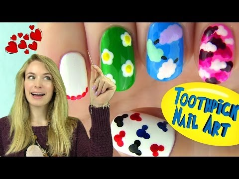 5 Nail Designs Using Only a Toothpick!