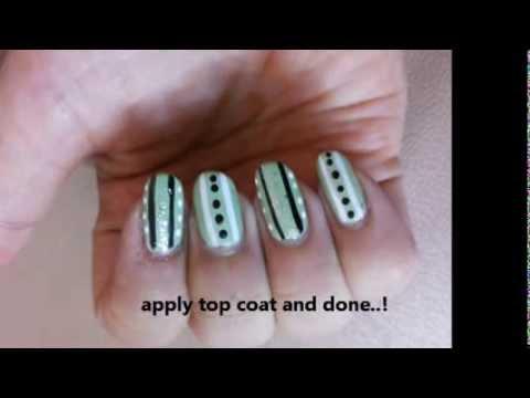 Simple Nail Art Design Tutorial For Beginners