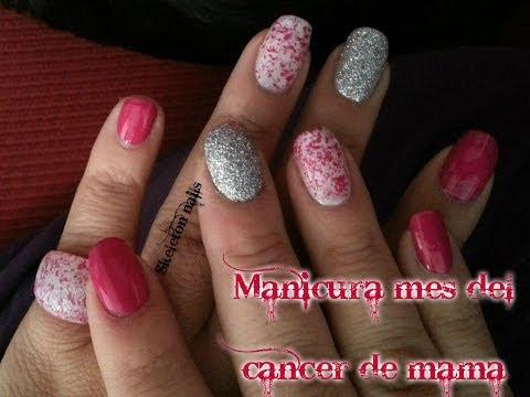Manicura De Octubre, Mes Del Cancer De Máma/ Breast Cancer Awareness Month Manicure