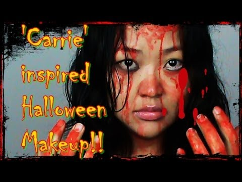 Easy/Horror Halloween Tutorial inspired by 'Carrie' Movie!