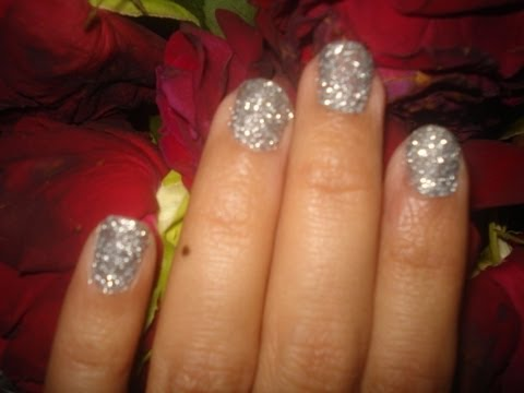 Easy Inexpensive 3D Glitter Party/Clubbing Nails for beginners!