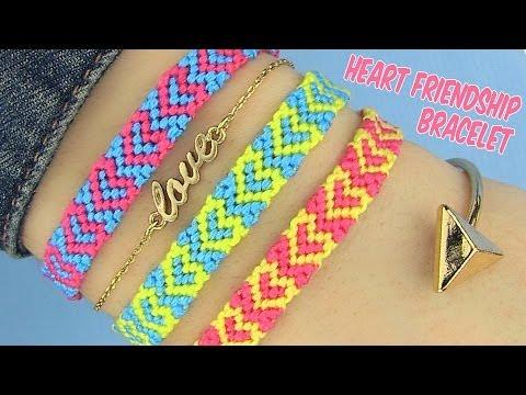 DIY Heart Friendship Bracelets