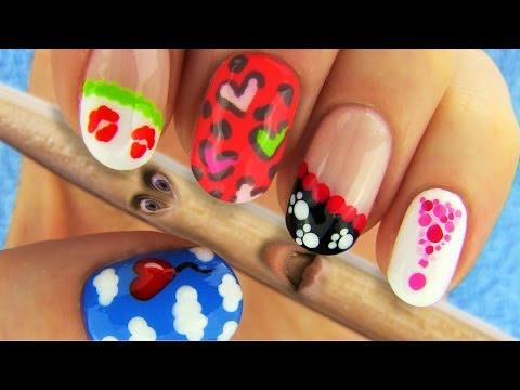 Nail Art Designs Nail Tutorial Using Toothpick as a Dotting Tool