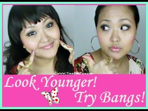 Look Younger! Tutorial Clip-on Bangs Hairstyle! Indian Vlogger/Blogger, TinaRaiPun