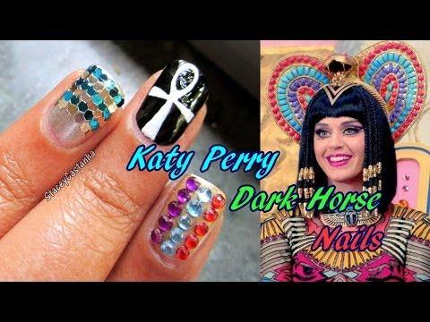Katy Perry Dark Horse Music Video Inspired Nail Art Tutorial.