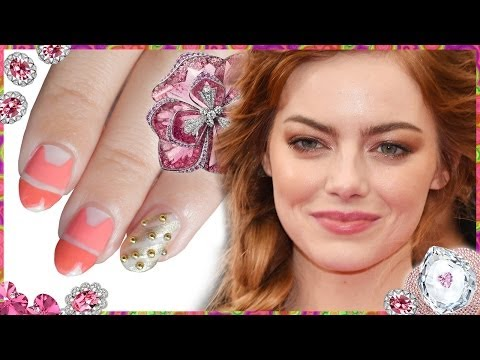 Emma Stone Met Gala 2014 ❤ Inspired Nails