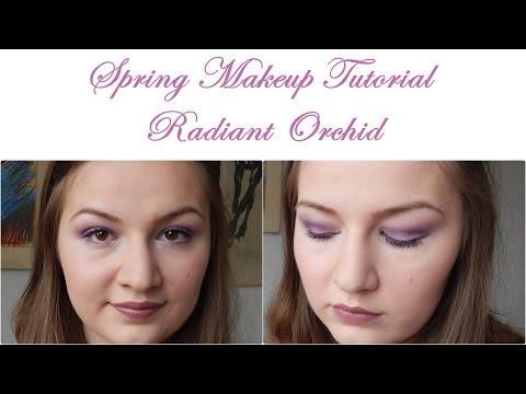Spring Makeup Tutorial: Radiant Orchid // Hooded Eyelids //Using essence makeup
