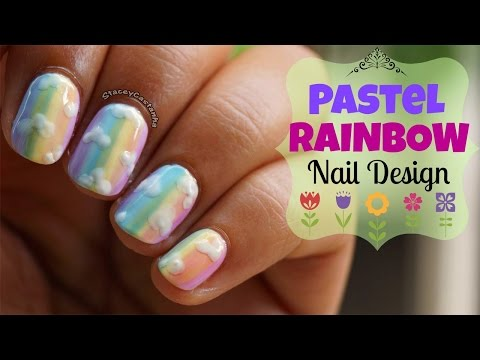 Pastel Rainbow nailart tutorial | NO TOOLS