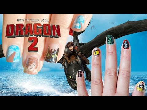 How to Train Your Dragon 2 Nail Art Collab with Minty Mina D