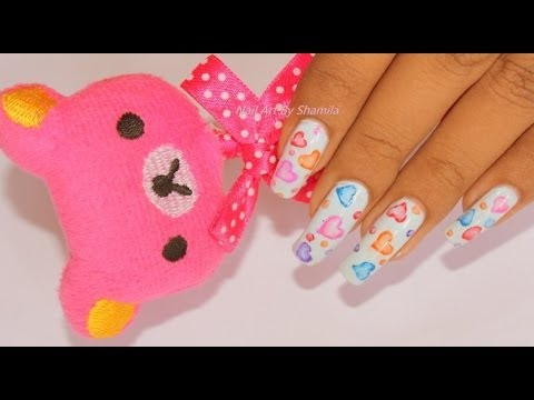Pastel Love  Water Color Nail Design ,Easy To Do