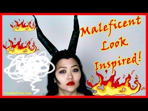 Disney Maleficent Inspired Makeup Tutorial! Indian Vlogger/Blogger TinaRaiPun